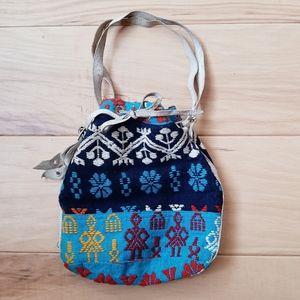 Vintage Embroidered Handmade Folk Pouch